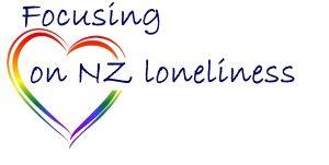 Loneliness NZ focusing on NZ loneliness logo