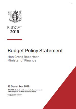 Cover of 2019 Budget Policy Statement