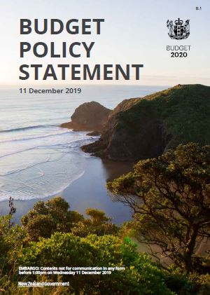 Cover of 2020 Budget Policy Statement