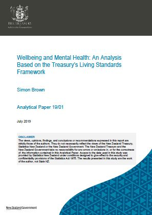 Cover of Treasury mental wellbeing analysis